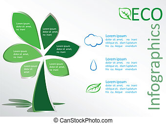 Eco info graphics - Infographics ecology concept Vector