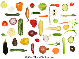 Vegetable Variety - Vegetable selection in abstract design...