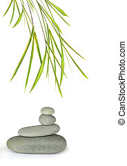 Zen Balance and Stability - Zen abstract of gray spa stones...