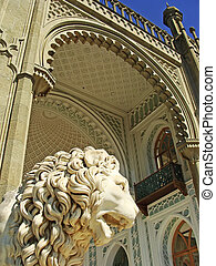 Sculptire of Medici lion, southern facade of Vorontsov...