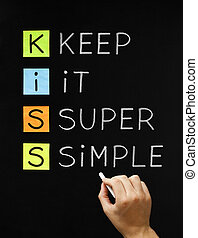 Keep It Super Simple - Hand writing Keep It Super Simple...