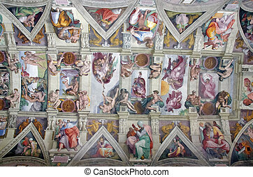 Sistine Chapel - ROME, ITALY - MARCH 08: Michelangelo's...