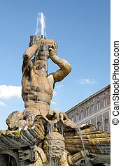 Triton Fountaint in Barberini Square (Rome) Triton was...