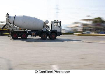 construction cement mixer truck