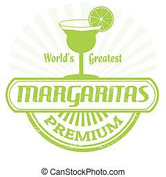 Margaritas stamp - Margaritas grunge rubber stamp on white...