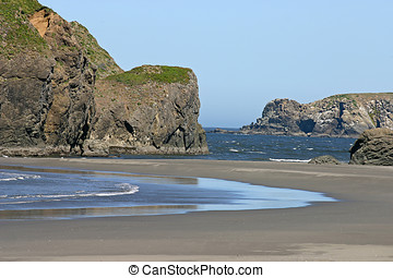 Northern California Beach - Scenic shot of a northern...