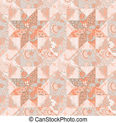Quilt seamless pattern background star shape - Quilt vector...
