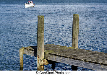 Boat pier - Small boat pier on a body of water