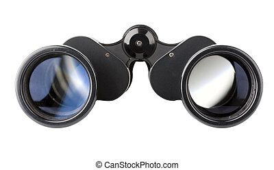 isolated binoculars - close up of a binoculars tool isolated...