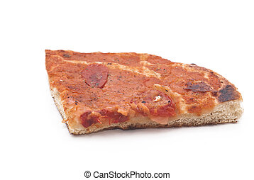 sicilian traditional pizza sfincione isolated - sicilian...