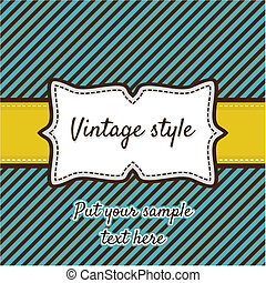 Retro greeting card template design