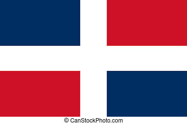 Dominican - The Standard flag of Dominican