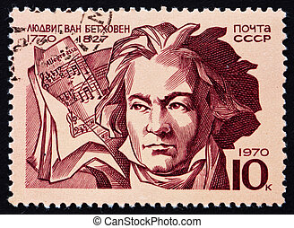 Postage stamp Russia 1970 Ludwig van Beethoven - RUSSIA -...