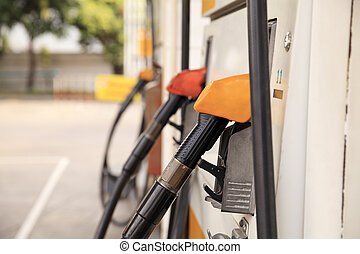 Fuel pump dispensers in Gas Station