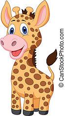 CÙte, bebê, Girafa, caricatura