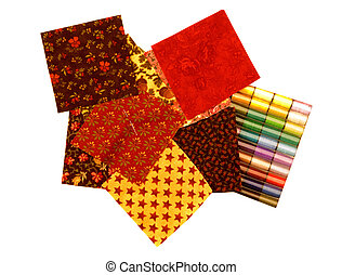 QUILT SQUARES AND THREAD