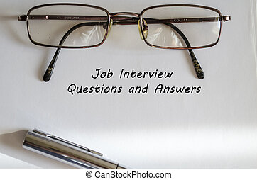 Job Interview, questions and answers - Job inerview and...