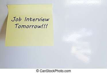 Job Interview - Job interview is written on sticky note
