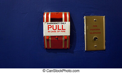 Red fire alarm pull switch
