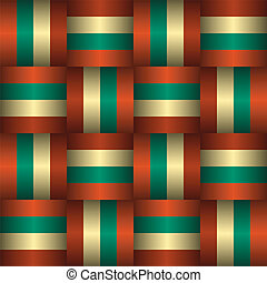 Retro Seamless Pattern - Geometric Vintage Retro Seamless...