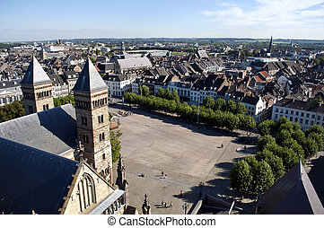 Square of Maastricht - View of the Dutch city...