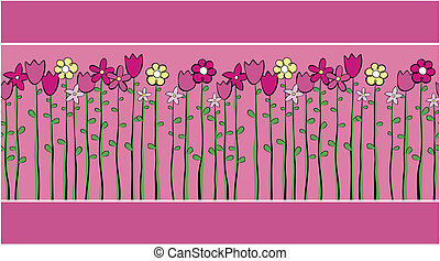flowers vector border