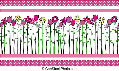 cute flowers border