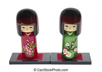 japonés, muñeca