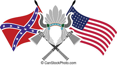 american civil war. stencil. fourth variant. vector...