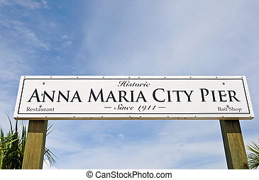 Anna Maria City Pier - Historic Anna Maria City Fishing Pier...