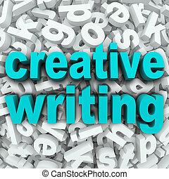 創造性, 寫, 信, 背景, 創造性, 想象