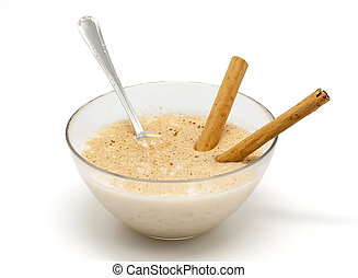 Rice pudding - Savory Rice pudding with cinnamon sticks