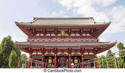 Senso-ji Temple,Tokyo - Main faade of Senso-ji Temple
