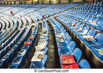 Empty seats at the Vicente Calderon, Madrid - Vicente...