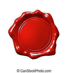 Red Wax Seal 4 - Isolated (Empty)