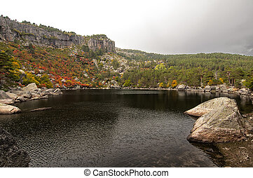 The Laguna Negra in Soria - Landscape of the famous La...