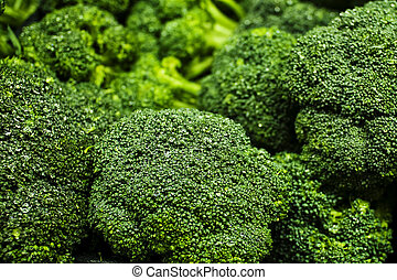 Broccoli at the Farmers Market - Fresh and Healthy Broccoli...