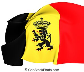 Government Ensign of Belgium Close Up