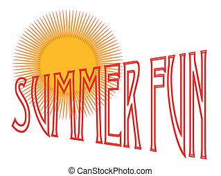Summer Fun - A poster style image with the words Summer Fun,...