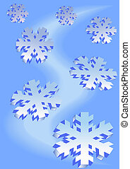 Ice Crystal - vector drawing on the theme of celebrating the...