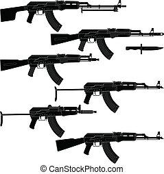 asalto, Rifles