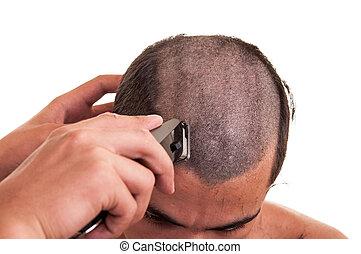 encima, corte de pelo, Podaderas, pelo, Plano de fondo,...