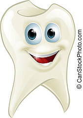 Tooth man - An illustration of a cartoon tooth man character...