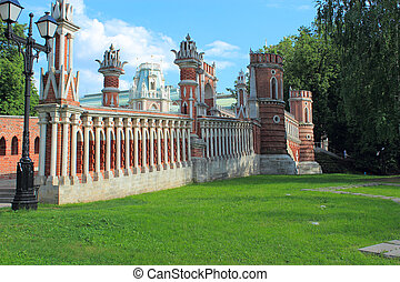 Figured bridge in Tsaritsyno. Moscow. - Figured bridge in...