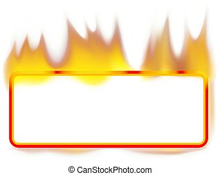 Fire Banner - Rectangle - Fire Banner 01 - burning rectangle