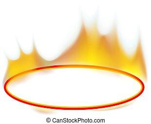 Fire Banner - Ellipse - Fire Banner 02 - burning ellipse