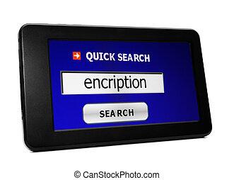 encription, 捜索しなさい