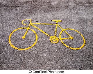 Bike lane - an image of bike path