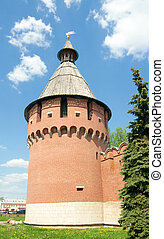 Spasskaya tower of Tula Kremlin XVI centuryThe tower is...