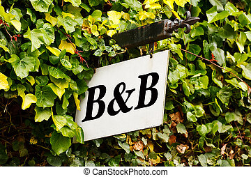 Bed and breakfast sign - Traditional Bed and breakfast sign...